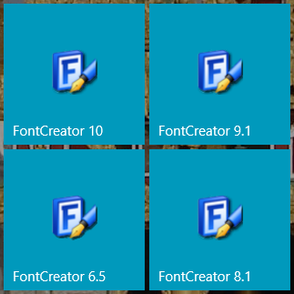 FontCreator Old Versions.png